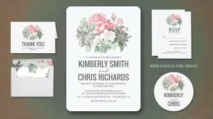 succulent wedding invitations modern wedding wedding invitations by jinaiji