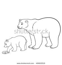 polar bear color page coloring pages mother polar bear her stock vector 469820519