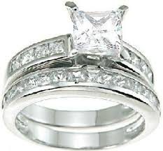 White Gold Cz Wedding Rings by Cheap Discount Wedding Ring Review Diamond Bridal Wedding Set 0 5