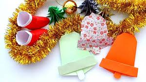 how to make a christmas bell paper origami christmas decoration
