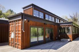 shipping containers houses example of an urban exterior home