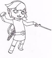 toon link coloring pages coloring pages online