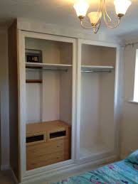 Cloth Closet Doors Diy Closet Door Alternative With Drop Cloth Curtains
