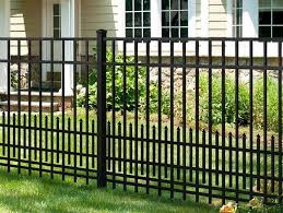 lowes black aluminum fence home design interior home decor for lowes