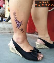 butterfly on leg by amar by amartattoo on deviantart