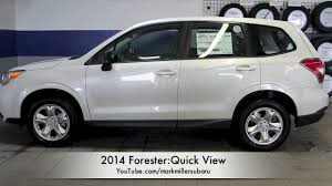 subaru suv white 2014 forester 2 5i quick view mark miller subaru youtube