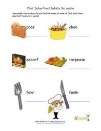 food safety questions for children and middle children