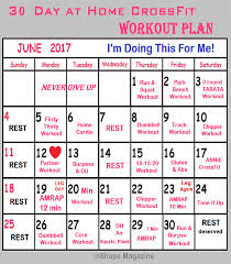 home work out plans 30 day at home crossfit workout plan inshape magazine