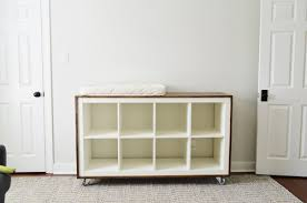 an easy ikea hack bookcase to wood wrapped changing table ikea