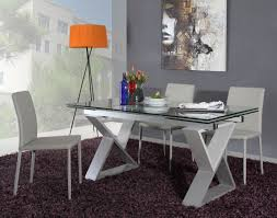 Metal Frame Dining Chairs Modern Grey Metal Frame Dining Table