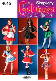 simplicity 4015 the alice in wonderland costume can easily be