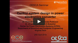control system design in power electronics converter on vimeo