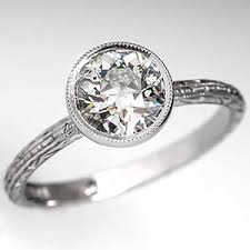 bezel set engagement ring best 25 bezel set engagement rings ideas on bezel