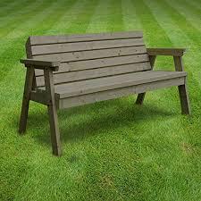 Heavy Duty Garden Bench Thistleton Garden Seat Garden Bench 3 Seater Brown Heavy