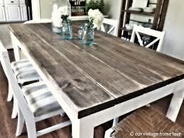 brilliant distressed dining room sets wood table bench metal legs distressed dining room sets
