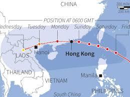 Map Of Hong Kong China by Hong Kong Map Of Super Typhoon Usagi Business Insider
