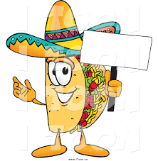 cartoon sombrero royalty free cartoon of a taco holding a blank sign by toons4biz