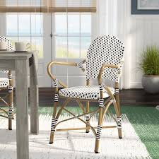 Patio Dining Chairs With Cushions Lark Manor Papke Stacking Patio Dining Chair With Cushion
