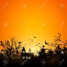 halloween background images halloween background with old graveyard and church royalty free