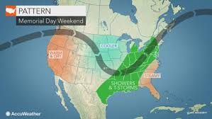 us weather map this weekend showers to den memorial day weekend across large span of
