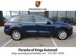 porsche dark blue metallic pre owned 2014 porsche cayenne diesel