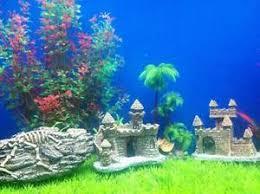 resin castle tower fish tank aquariums decoration underwater
