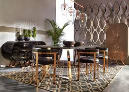 living room black leather meets stainless steel frames with