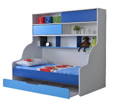 children bunk bed single bed pull out verona blue buy