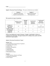 name algebra 1 keystone exam test design u2013 the exam is divided
