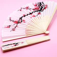 fan favors cherry blossom silk fans palm and bamboo fans
