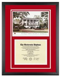 of alabama diploma frame of alabama diploma frame with artwork in