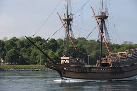 mayflower ii travels through cape cod canal en route to plymouth