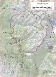 Yosemite Park Map Yosemite National Park