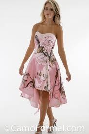 pink camo dresses 2015 bridesmaid dress strapless hi lo