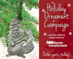 holiday ornament campaign muscular dystrophy canada