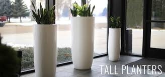 Tall Plastic Planters by Modern Planter Pots Boxes Stylish Plant Containers Wholesale