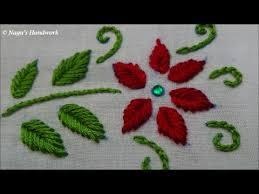 Fish Bone Stitch Embroidery Tutorials Fish Bone Stitch Embroidery Tutorials By Nagu S Handwork