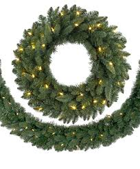 alaskan spruce led wreaths and garlands tree classics