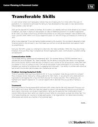 Skills For Resume Examples For Customer Service by Transferable Skills Resume Resume For Your Job Application