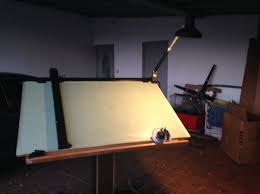 Light Up Drafting Table Mayline Electrical Up Drafting Table With Light Business