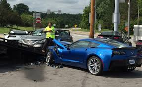 damaged corvettes for sale driver suffers seizure and crashes into two