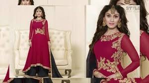 heavy designer salwar churidar palazzo suit eid collection 2016