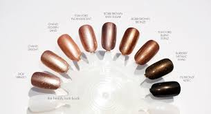 the beauty look book color focus bronze and metallic nail