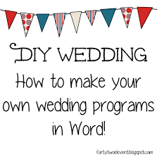 diy wedding program template forty two eleven diy wedding your own programs