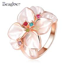 Flower Wedding Ring by Aliexpress Com Buy Beagloer Hotting Sale Jewelry Ring With Rose