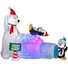 Blow Up Christmas Decorations At Lowes by 6 U0027 Tall Animated Airblown Christmas Inflatable Santa Coming Out Of