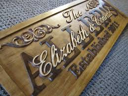 personalized wedding plaque personalized family name signs carved custom wooden sign last name