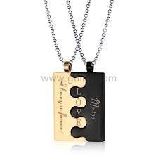 his hers gifts interlocking necklaces best gifts for couples personalized couples