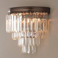 Modern Sconces Modern Faceted Glass Layered Wall Sconce Crystal Sconce Empire