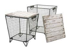 wire and wood basket side table industrial wire and wood basket side table wood basket industrial